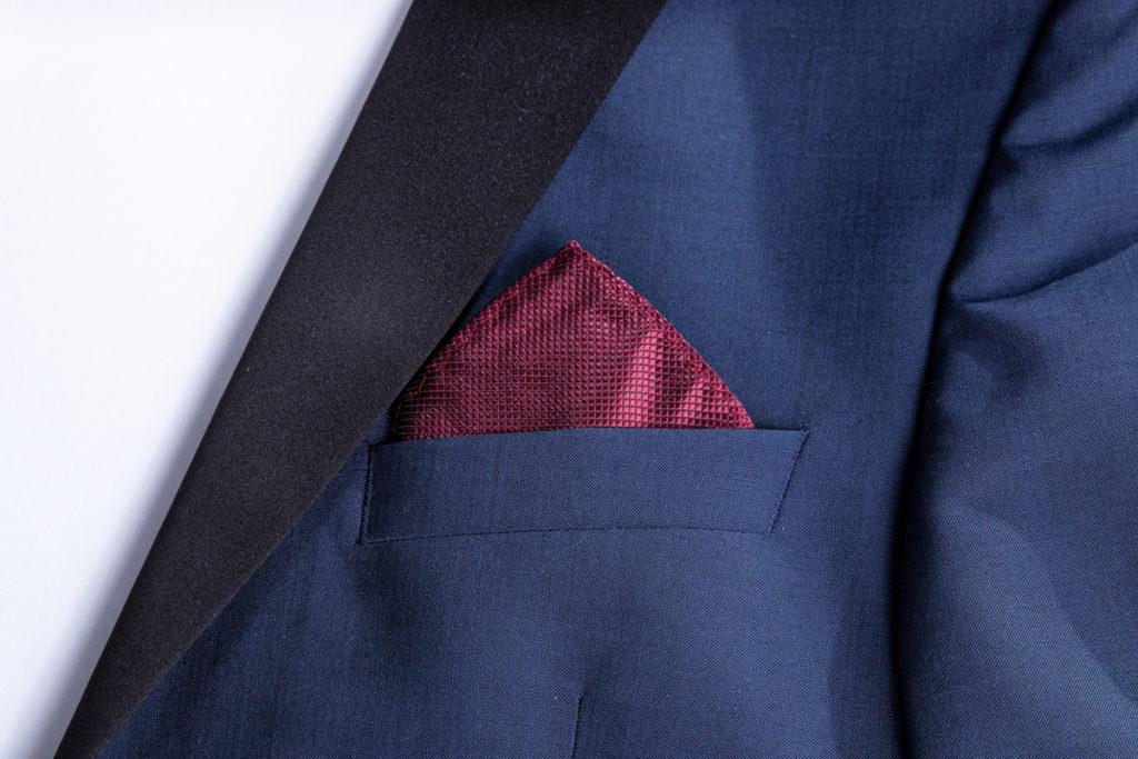 ready triangular fold in the pocket brest