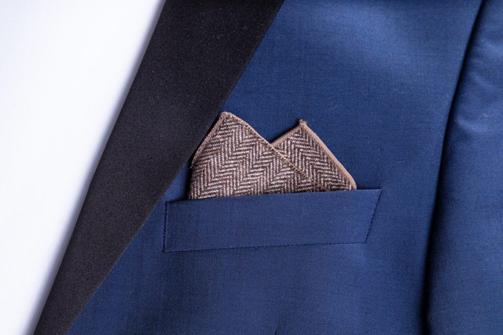 ready pocket square made of cotton